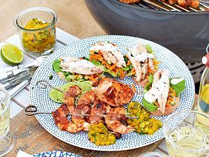 Makrelenhappen mit buntem Salat Rezept