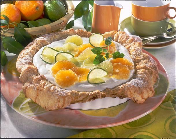 Mandarinen-Limetten-Torte Rezept