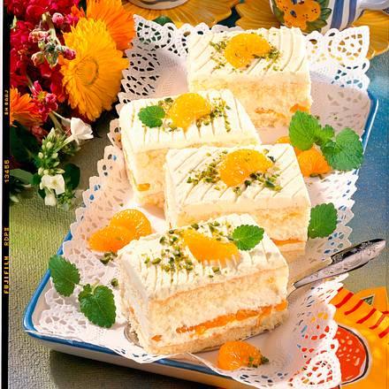 Mandarinen-Quarkcreme-Schnitten (Diabetiker) Rezept