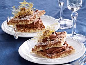 Mandel-Makronen mit Schokoladencreme Rezept