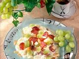 Mandel-Milchreis mit Trauben Rezept