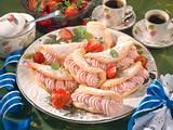 Mandel-Omelettes mit Erdbeer-Sahne Rezept
