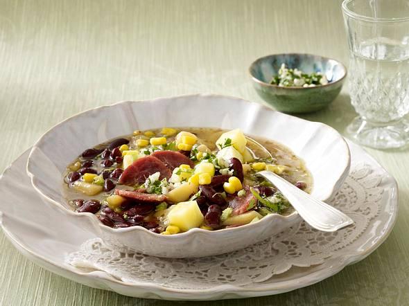 Manestra (Gemüse-Bohnen-Suppe) Rezept
