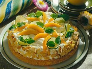 Mango-Biskuittorte Rezept