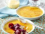 Mango-Crème-brûlée mit Himbeerkompott Rezept