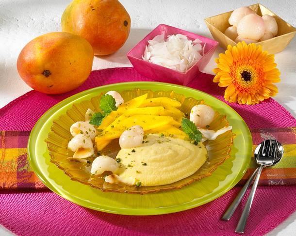 Mango-Creme mit Kokos Rezept