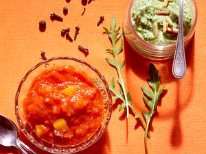 Mango-Ketchup und Gorgonzola-Apfel-Dip Rezept