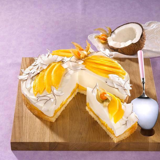 mango kokos torte rezept lecker. Black Bedroom Furniture Sets. Home Design Ideas