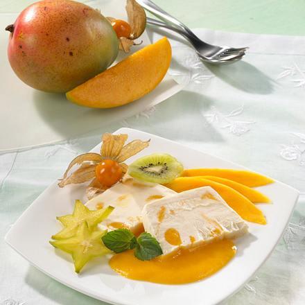 Mango-Parfait mit Crème fraîche Rezept