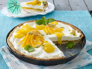 Mango-Tarte mit Vanillesahne Rezept