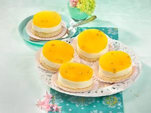 Maracuja-Schmand-Biskuitblechkuchen Rezept