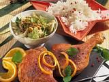 Marinierte Entenkeulen mit Kim Chee (Chinakohl-Salat) Rezept