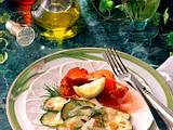 Marinierte Zucchinischeiben mit Bündner Fleisch Rezept