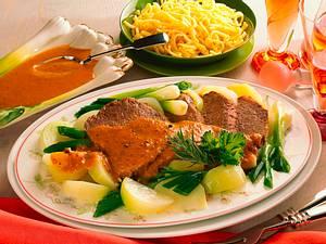 Marinierter Schmorbraten in Gemüse-Pumpernickel-Soße Rezept