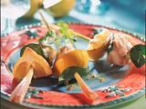 Marinierter Seeteufel auf Zitronengrasspießen Rezept