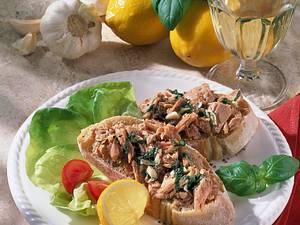Marinierter Thunfisch auf italienischen Weißbrot Rezept