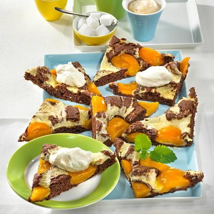 Marmorecken mit Aprikosen Rezept