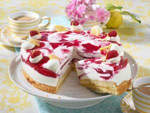 Marmorierte Himbeer-Zitronen-Torte Rezept