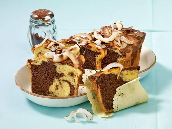 Marmorkuchen mit Kokosmilch (Diabetiker) Rezept