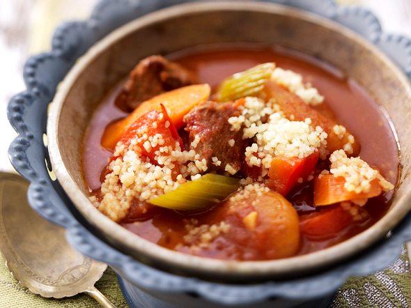 Marokkanische Gemüsesuppe mit Couscous Rezept