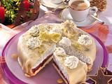 Marzipan-Mohn-Torte mit Pflaumen Rezept