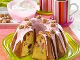 Marzipan-Napfkuchen mit Rhabarber und Amarettini Rezept