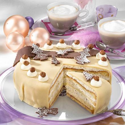 Marzipantorte mit haselnusssahne rezept lecker - Torten dekorieren mit marzipan ...