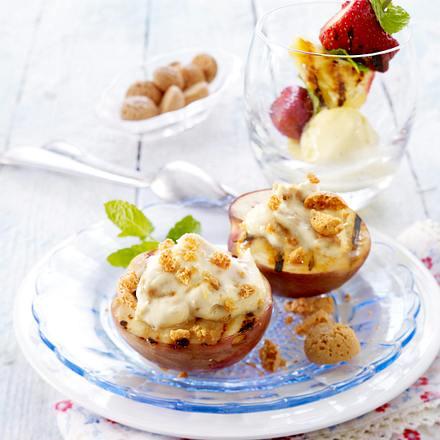 Mascarpone-Nektarinen und Fruchtspieße vom Grill Rezept