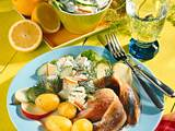 Matjes mit Apfel-Gurken-Dip Rezept