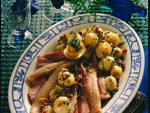 Matjes mit Kartoffeln in Speck-Kresse-Marinade Rezept