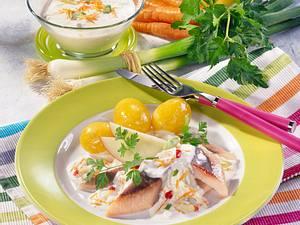 Matjesfilets mit Joghurt-Dip Rezept