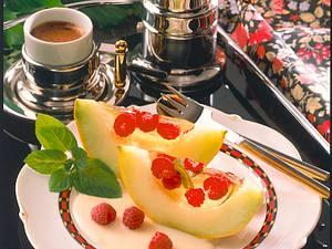 Melone mit Weingelee Rezept