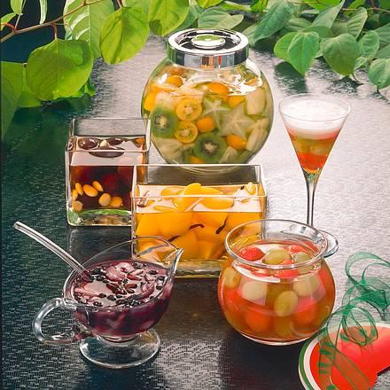 Melone und Weintraube in Wodka Rezept