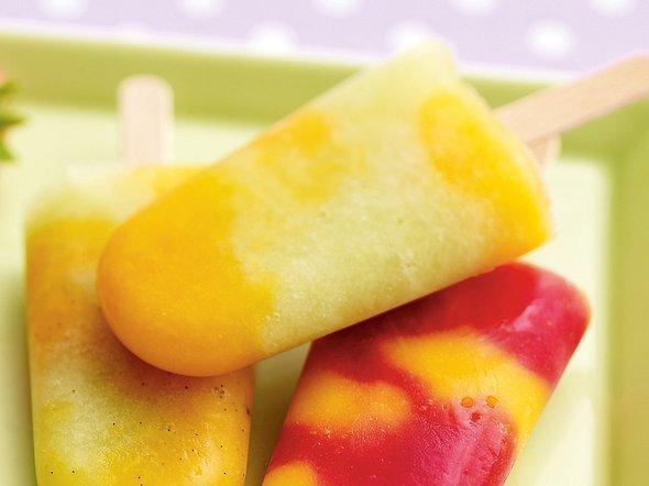 Melonen-Aprikosen-Eis mit Vanille Rezept