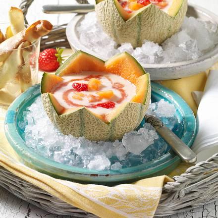 Melonen-Joghurt-Suppe auf Eis Rezept