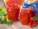 Melonen-Konfitüre mit Himbeeren Rezept