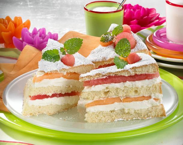 Melonen-Quark-Schnittchen Rezept