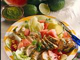Melonen-Salat mit Pesto-Hähnchen Rezept