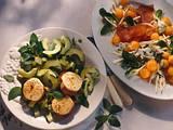 Melonen-Sellerie-Salat mit Schinken Rezept