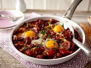 Menemen (türkisches Bauernfrühstück mit Sucuk) Rezept