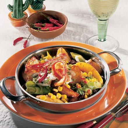 Mexikanische Kartoffel-Bohnen-Pfanne Rezept
