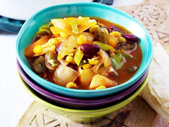 Mexikanisches Zwiebel-Kartoffel-Gulasch Rezept