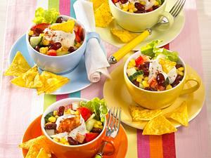 Mexiko-Salat mit Chilicreme Rezept