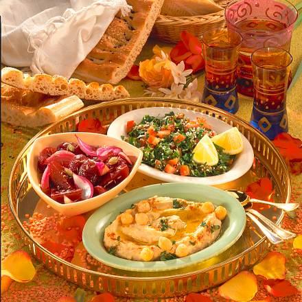 Mezze (arabische Vorspeise) Rezept