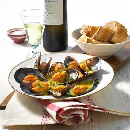 Miesmuscheln in galicischer Sauce Rezept