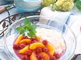 Milchreis mit Pfirsichen und Kirschen (Diabetiker) Rezept