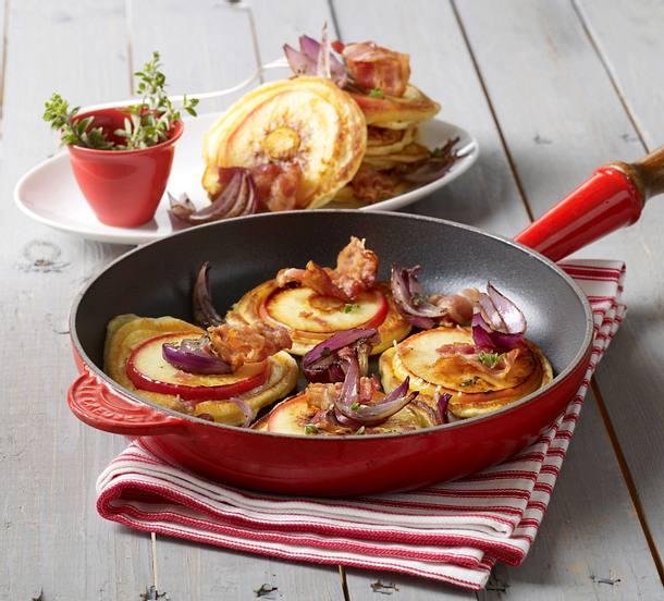 Mini-Apfel-Speck-Pfannkuchen Rezept