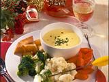 Mini-Käsefondue mit Gemüse Rezept