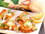 Mini-Kartoffelpuffer mit Garnelen Rezept