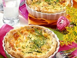 Mini-Lachs-Zucchini-Quiches Rezept
